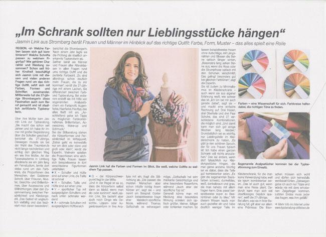 Ein Kleiderschrank voller Lieblingsstücke, Artikel in der Presse