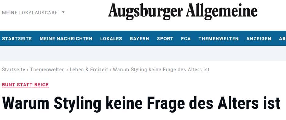 Artikel in der Augsburger Allgemeine Zeitung