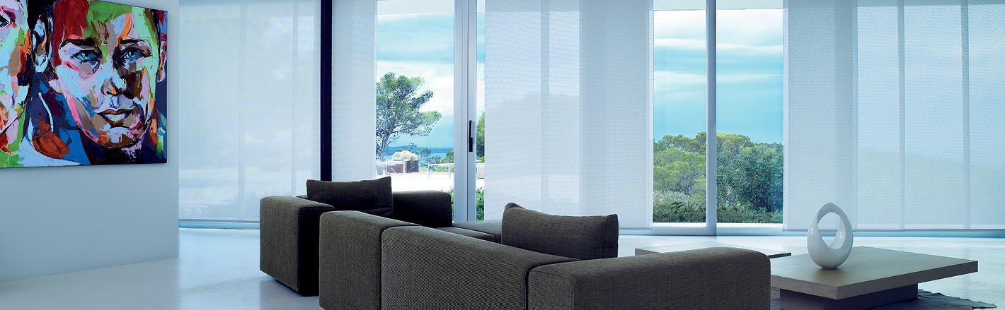 Интерьерные панельные шторы