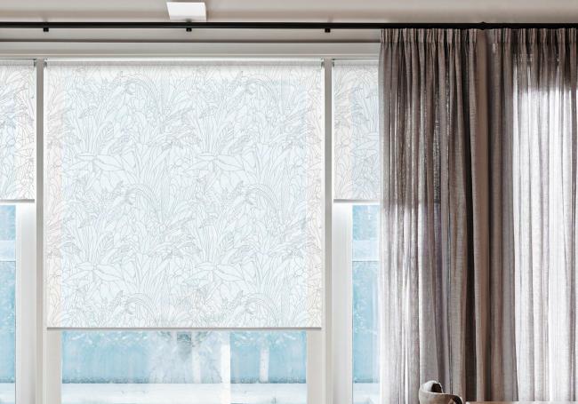 Рулонная штора с тканью Тропик