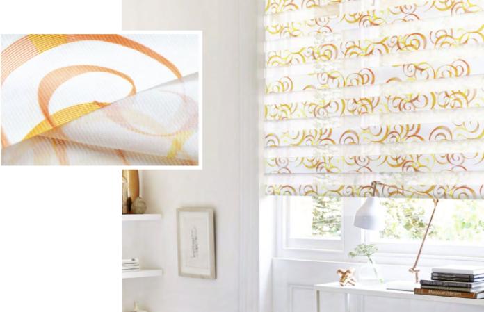 Рулонные шторы Зебра с тканью Авангард