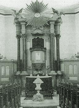 Die Kirche Mahlis nach der Umgestaltung, bis auf wenige Veränderungen der jetzige Zustand