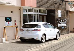 ※駐車スペース(店舗前に2台駐車可、無料)