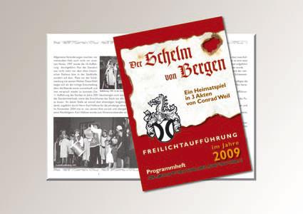 50-seitige Broschüre für Theateraufführung