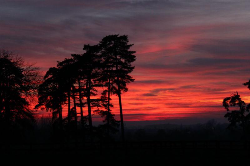 Gîte La Pouprière -coucher de soleil