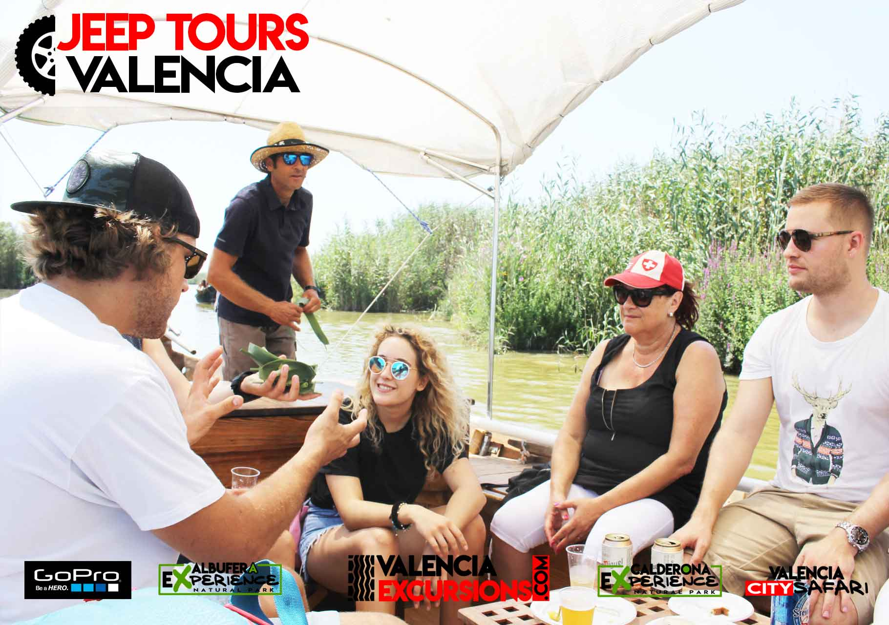 "Tapas in ""El Palmar"" mit Boot Ausflug im Albufera National Park. Mit Albufera EXperience auf Jeep Tour in Valencia"