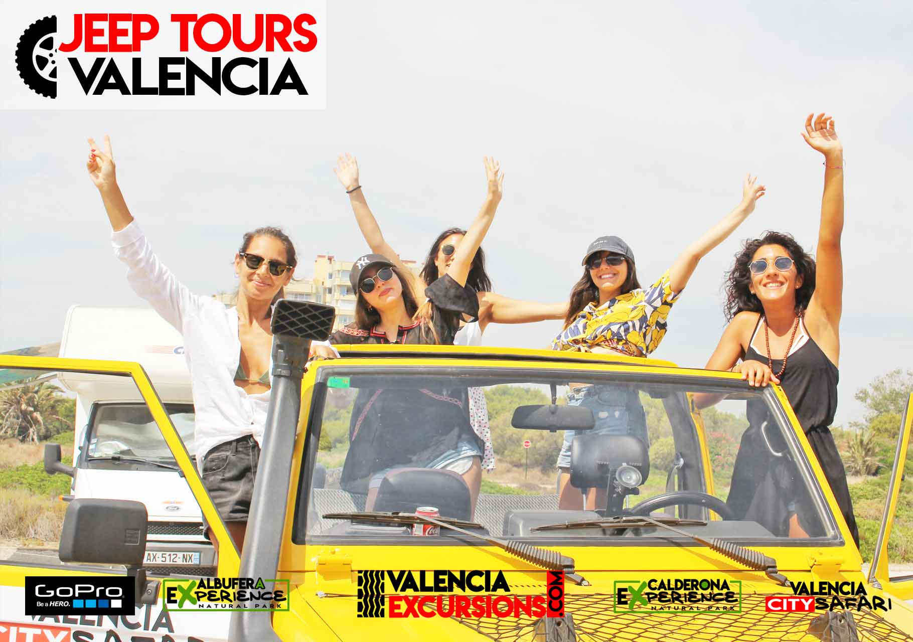 Touren durch den  Albufera Park mit jeeps. Reisfelder, Strand, Paella Albufera EXperience Jeep Tour Valencia
