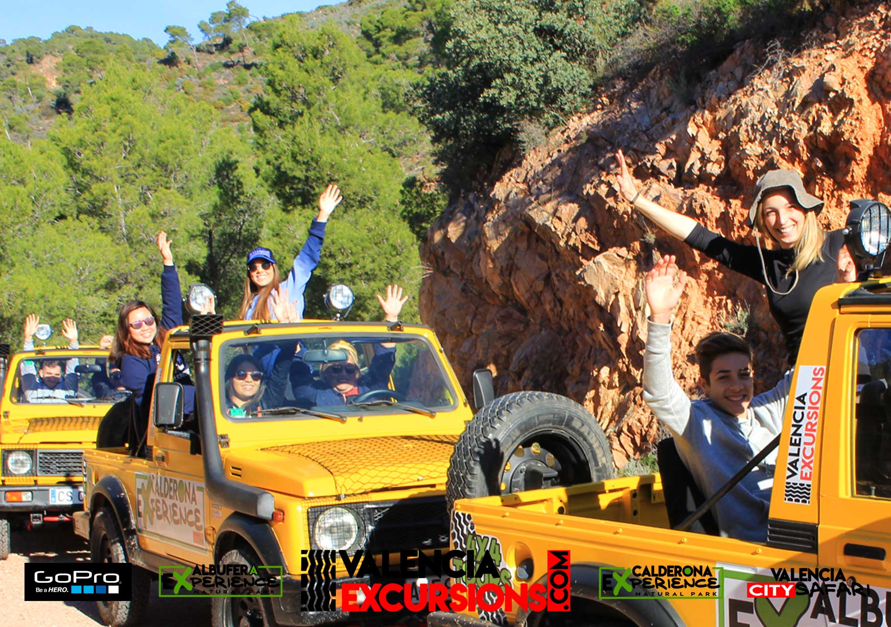Adventure in Valencia with Calderona Experience. Offroad adventure with a self drive jeep tour organized by www.valenciaexcursions.com