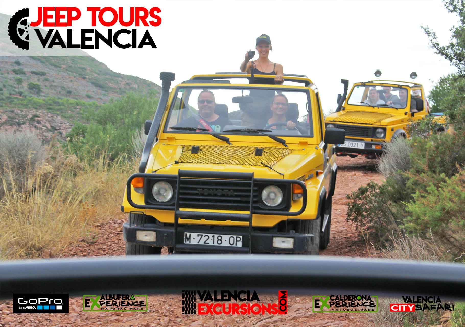 Jeep tour in Valencia visiting Calderona Mountains NAtional Park. Adventure tour 4x4
