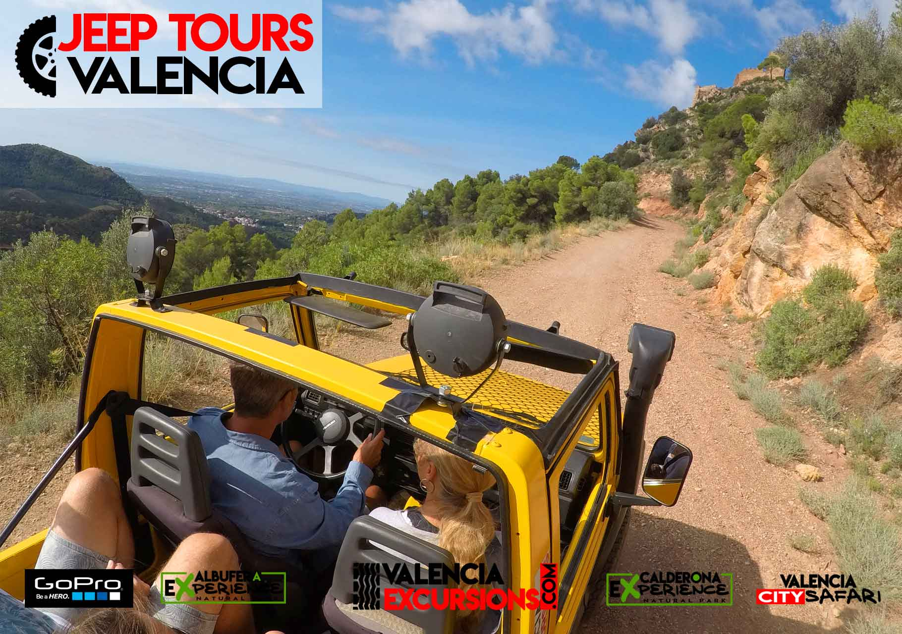 Mountain Jeep  Adventure in Calderona National Park Valencia. Guided Tour