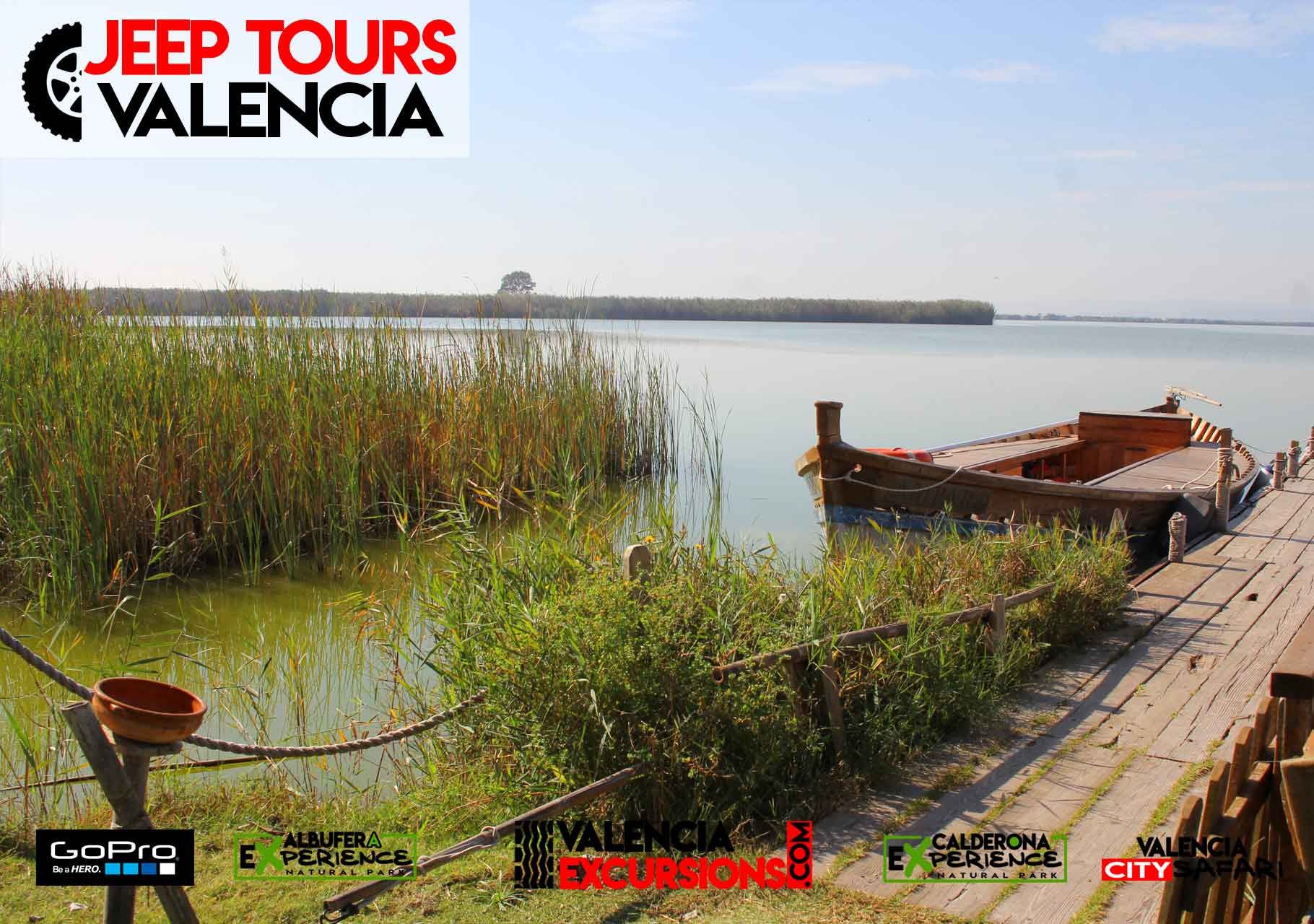 Boat trip in Albufera Lake Valencia is included with Albufera EXperience Jeep Tour