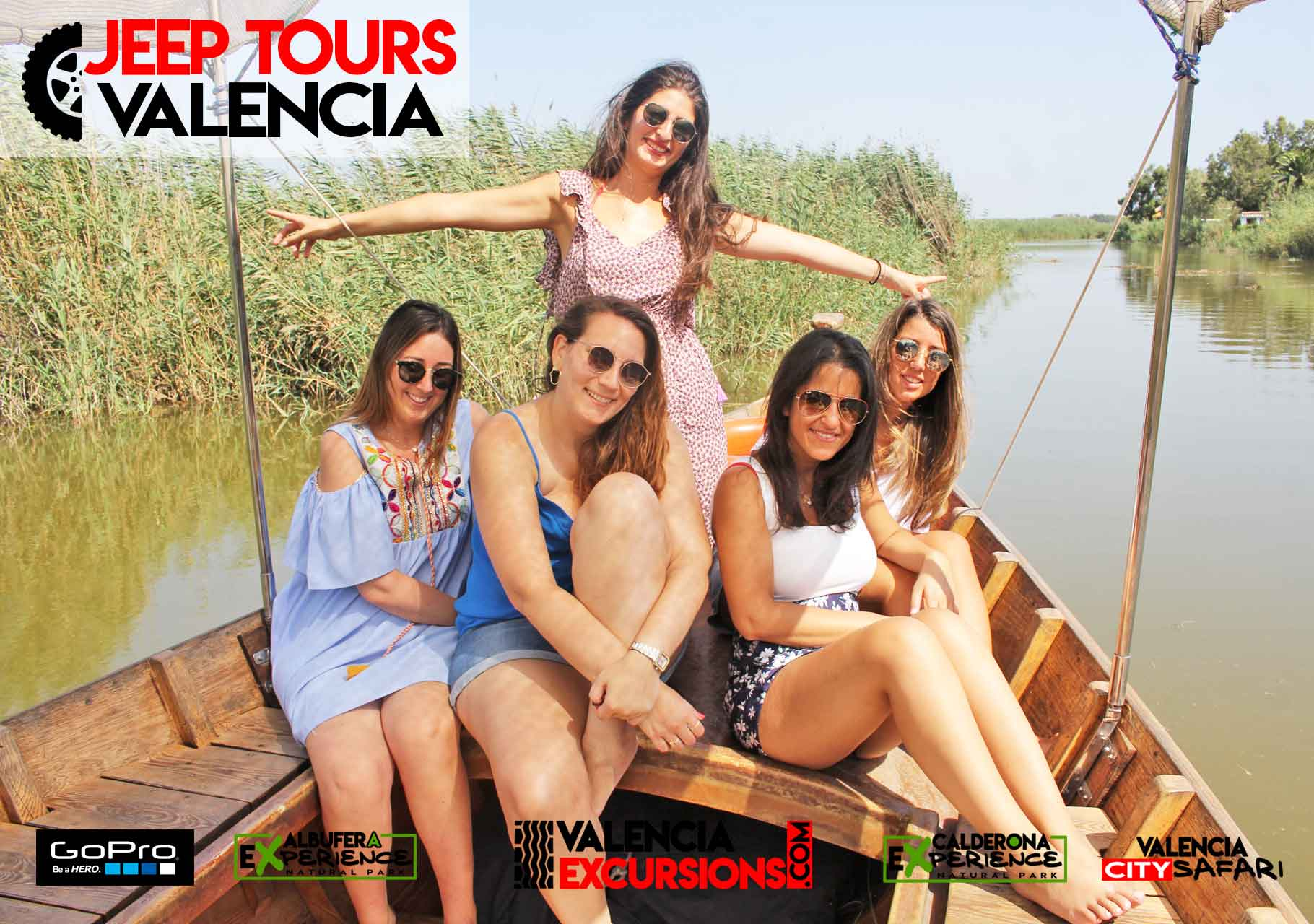 Boat Trip in Albufera Lake in Albufera National Park during Albufera EXperience Jeep Tour Valencia