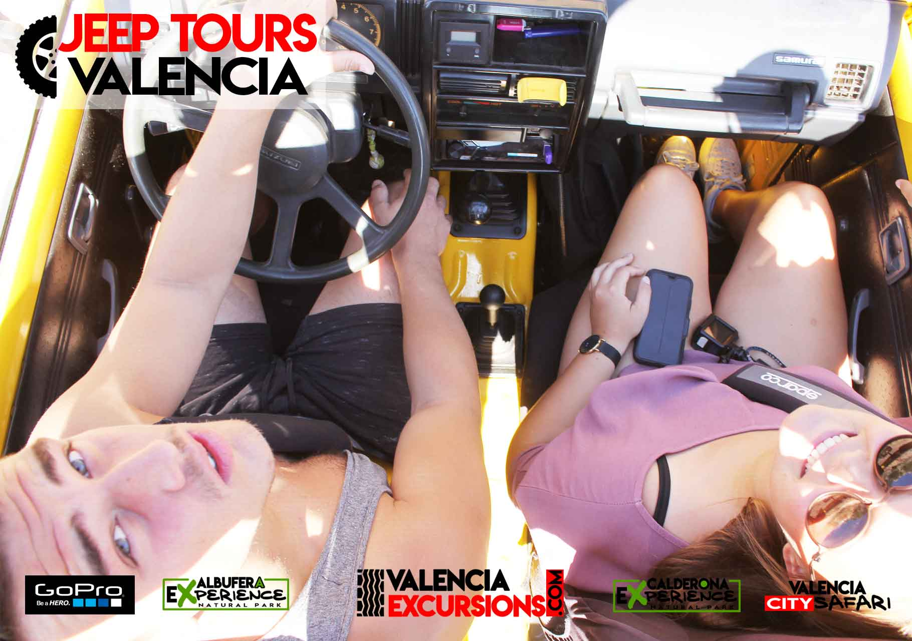 Driving a Jeep along Albufera National Park. Guided tour VAlencia