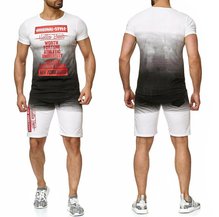 Fitness & Laufbekleidung Fitnessmode Trainingsanzug Jogginganzug Kurz Shorts Sporthose Shirt Hoodie Kapuze