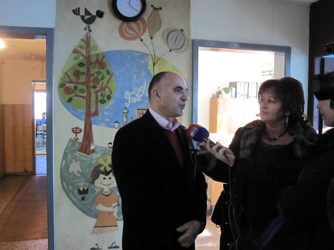 Marko Milićević daje interviju za TV
