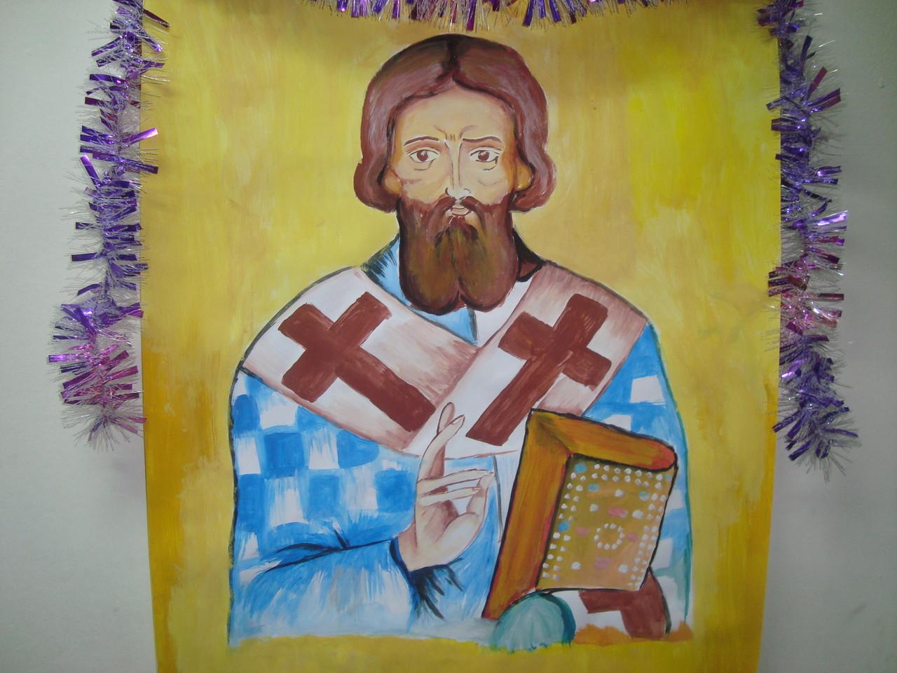 Sv.Sava- crtež iz učionice u G.Slatini