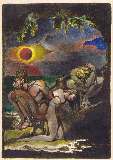 ウィリアム・ブレイクの『アルビオンの娘たちのビジョンズ』(1793年)の口絵