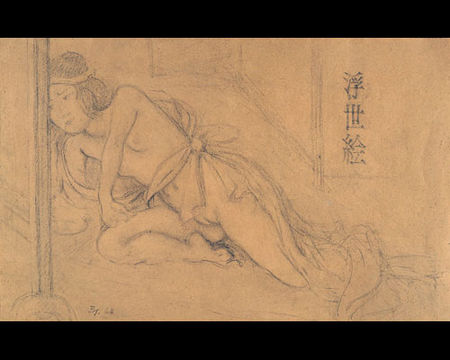 ※5:《朱色の机と日本の女》の習作