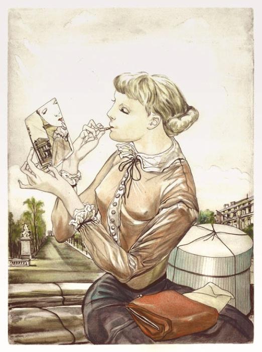 《鏡と少女》1935年