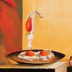 皿のない皿の上の卵