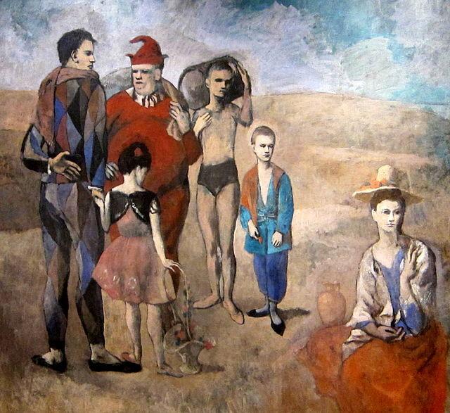 パブロ・ピカソ「サルタンバンクの家族」(1905年)