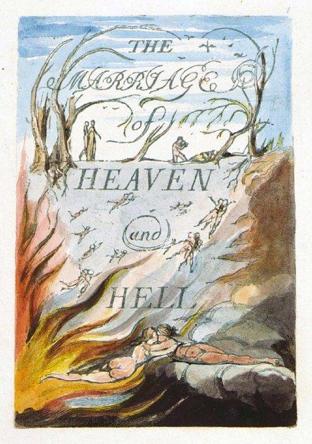 『天国と地獄の結婚』の表紙。