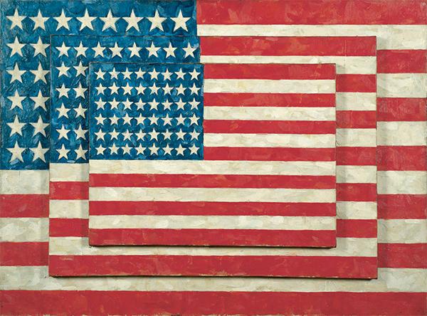 ジャスパー・ジョーンズ『3つの旗』(1958年)