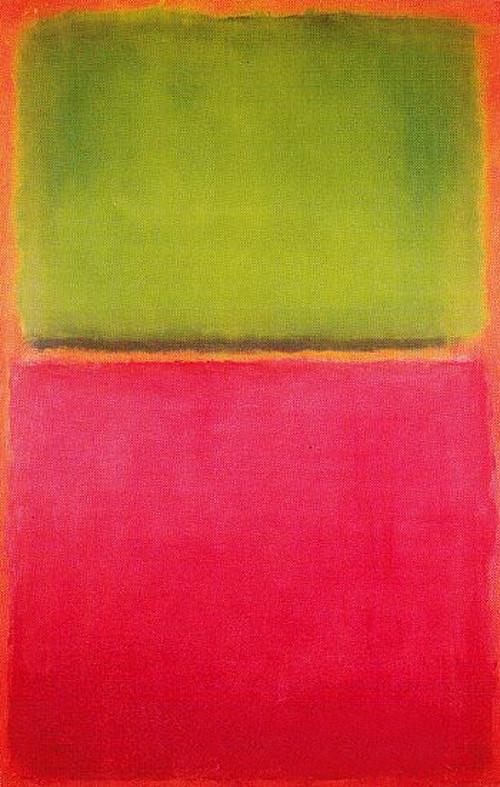 マーク・ロスコ「オレンジの上に緑と赤」(1951年)