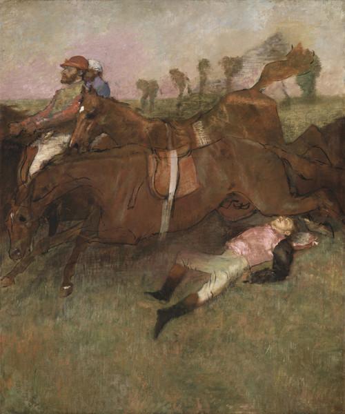 《競馬-落馬した騎手》1866年