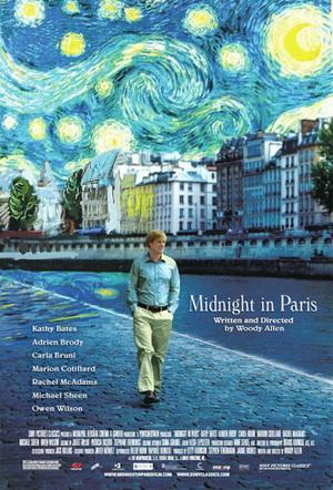 「ミッドナイト・イン・パリ」の映画ポスター。