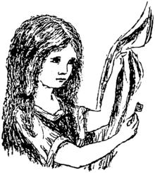 ドジソン自身が描いたアリスの絵。