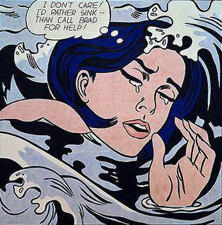 ロイ・リキテンスタイン《Drowning Girl》,1963年