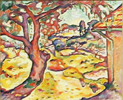 《レスタク近郊のオリーブ》1906年