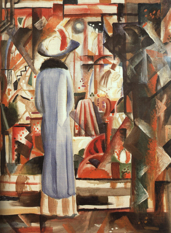 アウグスト・マッケ「ショッピング・ウインドウの大きな輝き」(1914年)