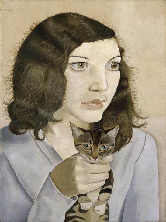 ルシアン・フロイド《子猫と少女》1947年