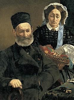 《オーギュスト・マネ夫妻の肖像》1860年
