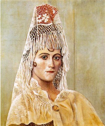 「マンティラを着たオルガ」