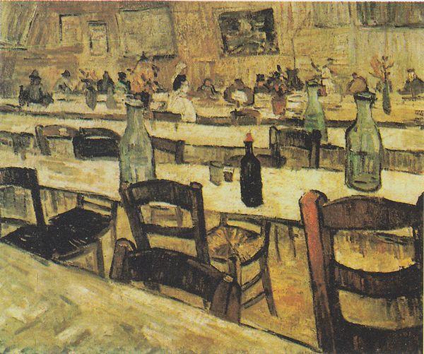 フィンセント・ファン・ゴッホ「アルルのレストラン内のインテリア」(1888年)