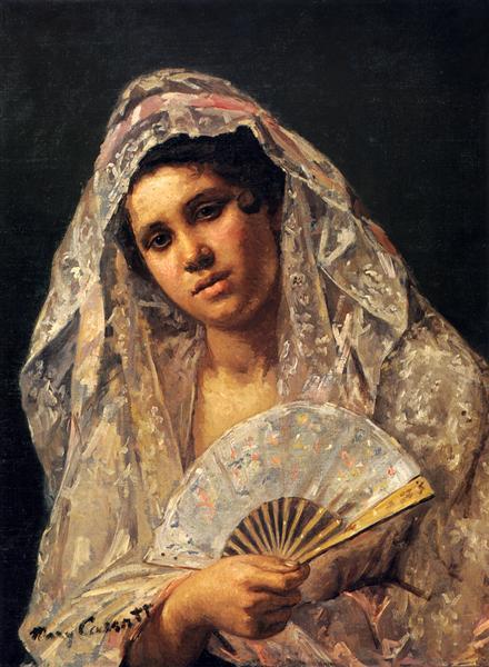 《レース・マンティラを着たスペインの踊り子》1873年