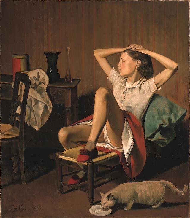 ※1:バルテュス《夢見るテレーズ》(1938年)