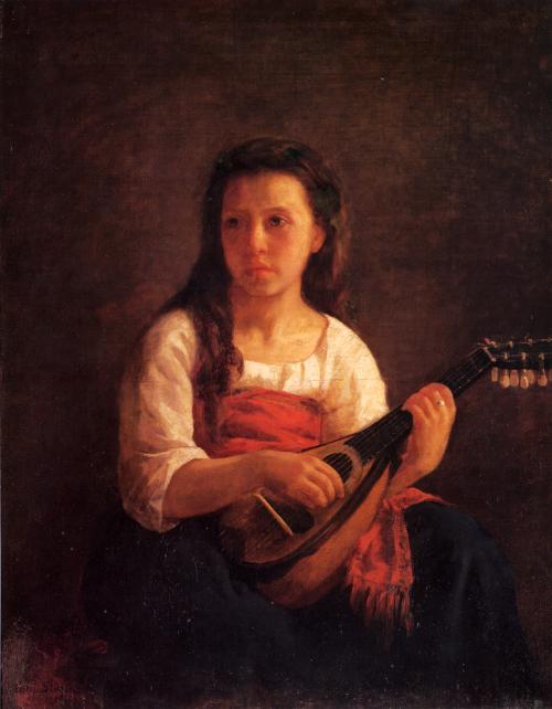 《マンドリン演奏者》1868年