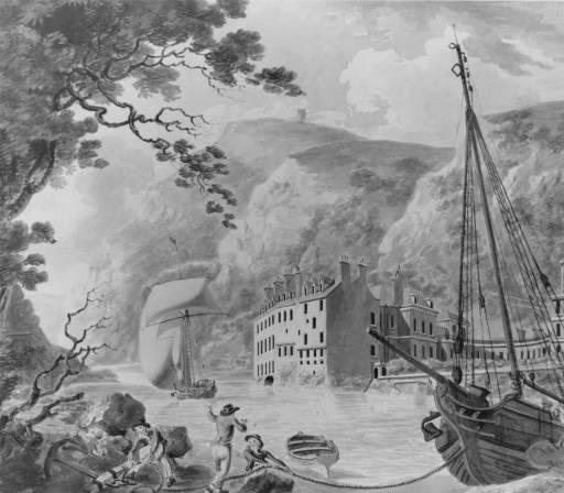 《ライジング・スコール:ブリストルの聖ヴィンセント・ロックのホット・ウェルズ》1793年
