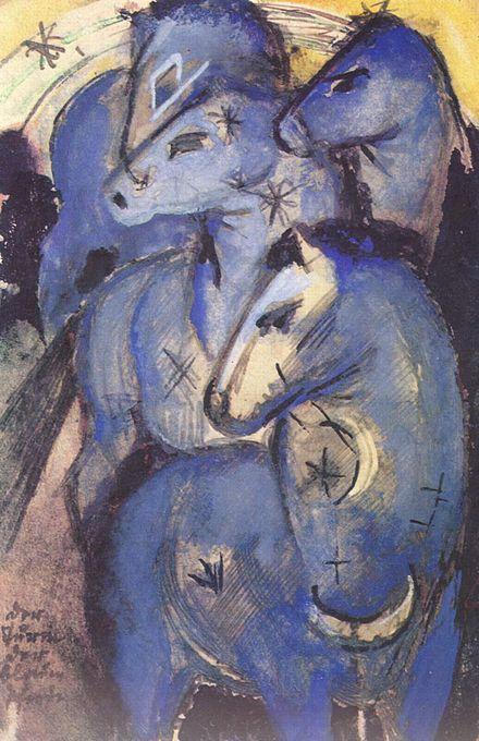 フランツ・マルク《青い馬の塔》1913年