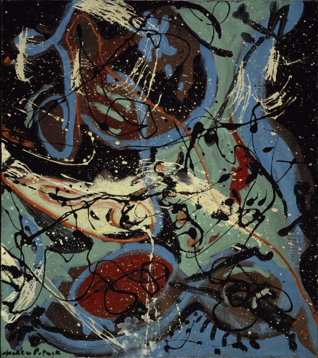 ジャクソン・ポロック《ポーリングの構成》(1943年)