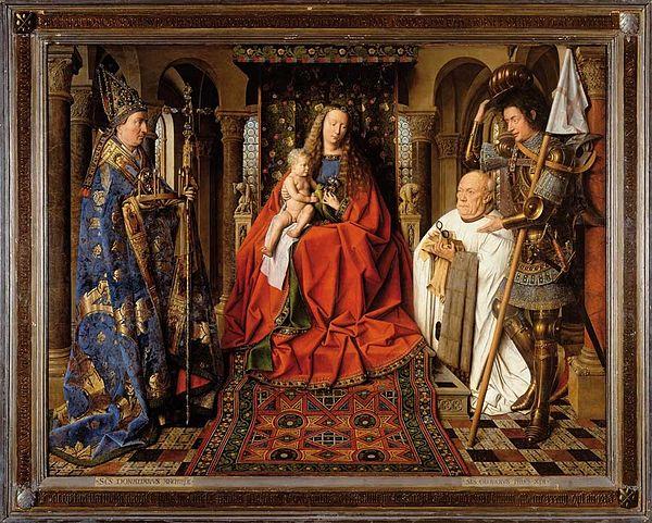 《ファン・デル・パーレの聖母子》,1434年-1436年