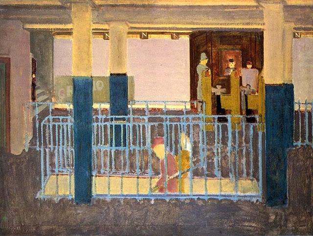 マーク・ロスコ《地下鉄の風景》(1938年)
