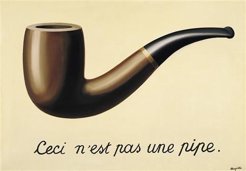 ルネ・マグリット《イメージの裏切り》(1929年)