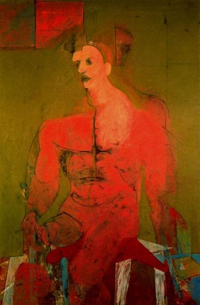 ウィレム・デ・クーニング「座っている男性」(1939年)