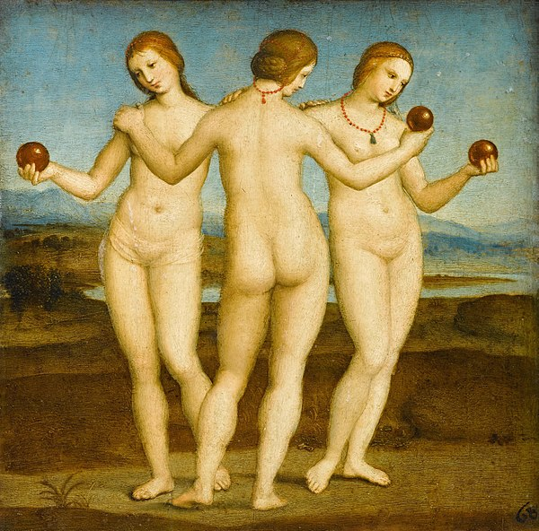 《三人の女神》,1504-1505年