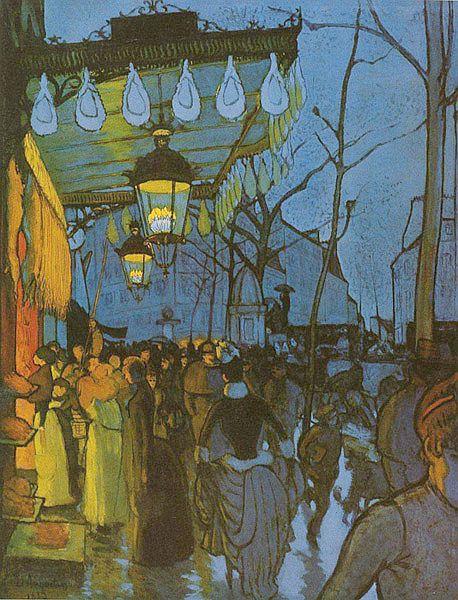 ルイ・アンクタン「クリシーの大通り」(1887年)